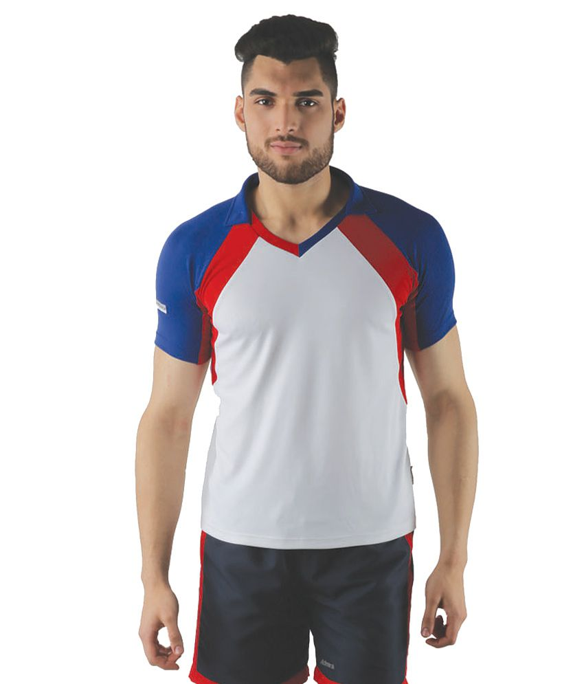 Admiral White Polyester T-Shirt