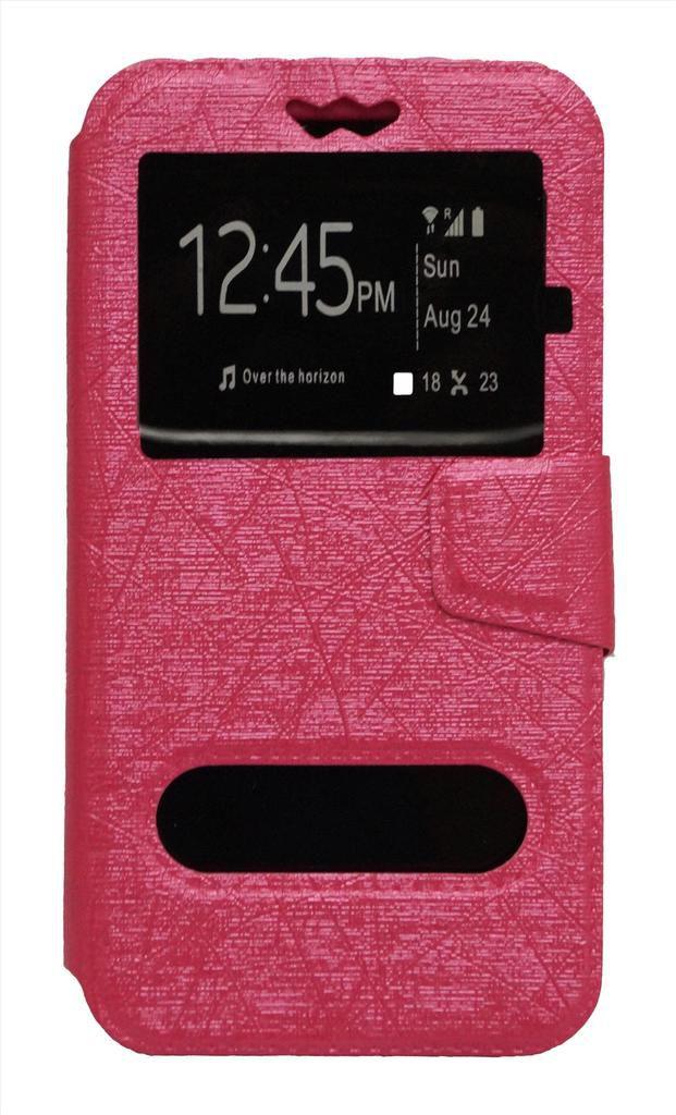 Karbonn Titanium Dazzle 2 S202 Flip Cover by GEOCELL - Pink