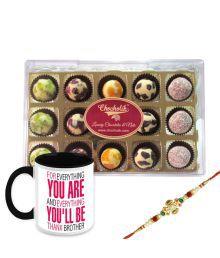 Chocholik Rakhi Gifts - Exclusive Range Feelings Of Joy With Tasty Chocolates With Mug Combo