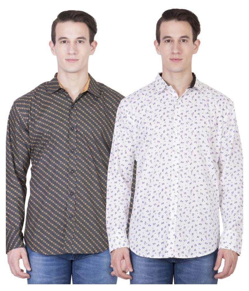 American-Elm Multi Casuals Regular Fit Shirt