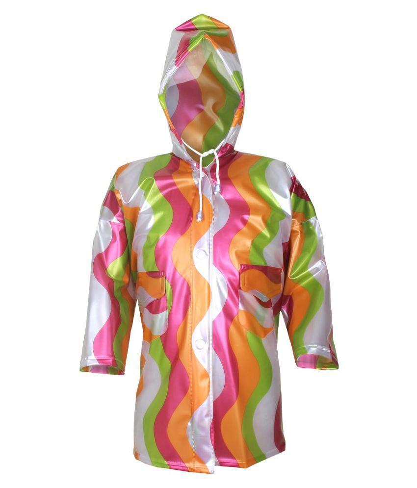 Rehbarrainwear Multicolor Polyester Raincoat