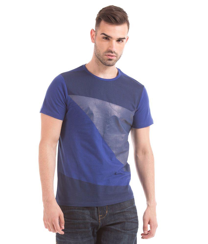Prym Blue Round Half Solids T-Shirt