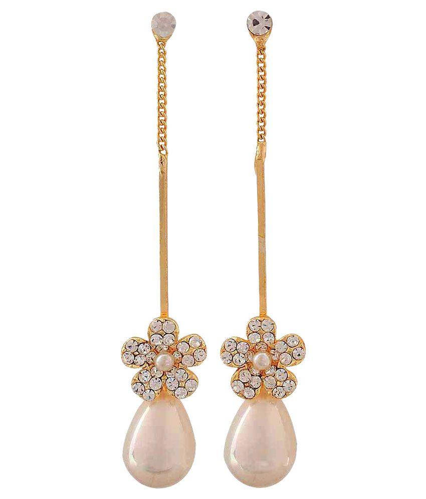 Maayra Golden Drop Earrings