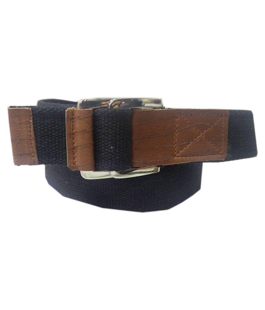Revo Black Canvas Casual Belts
