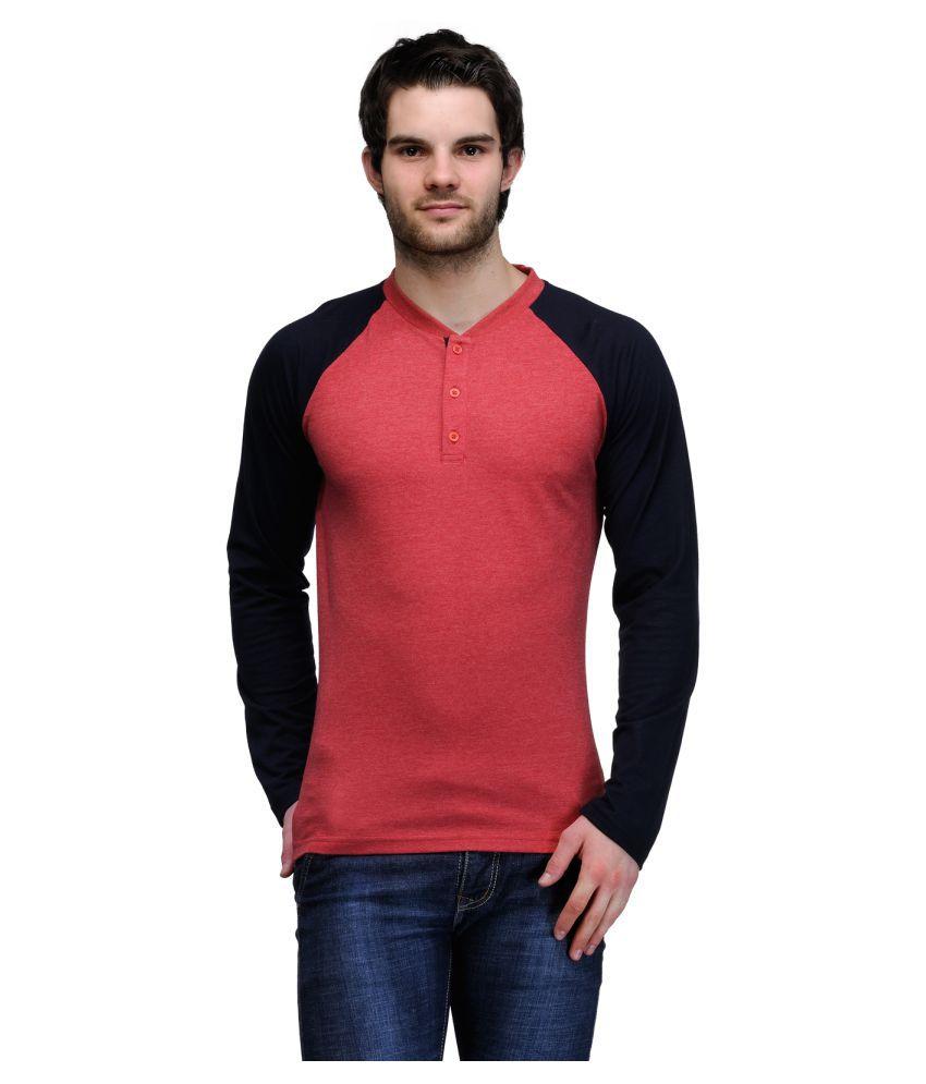 TSX Red Henley T-Shirt
