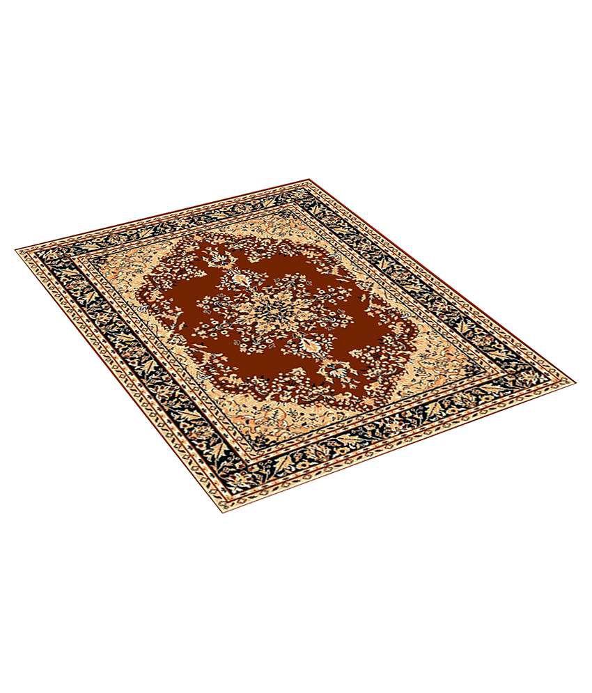 Furnishingland Brown Wool Carpet Ethnic 4x6 Ft.