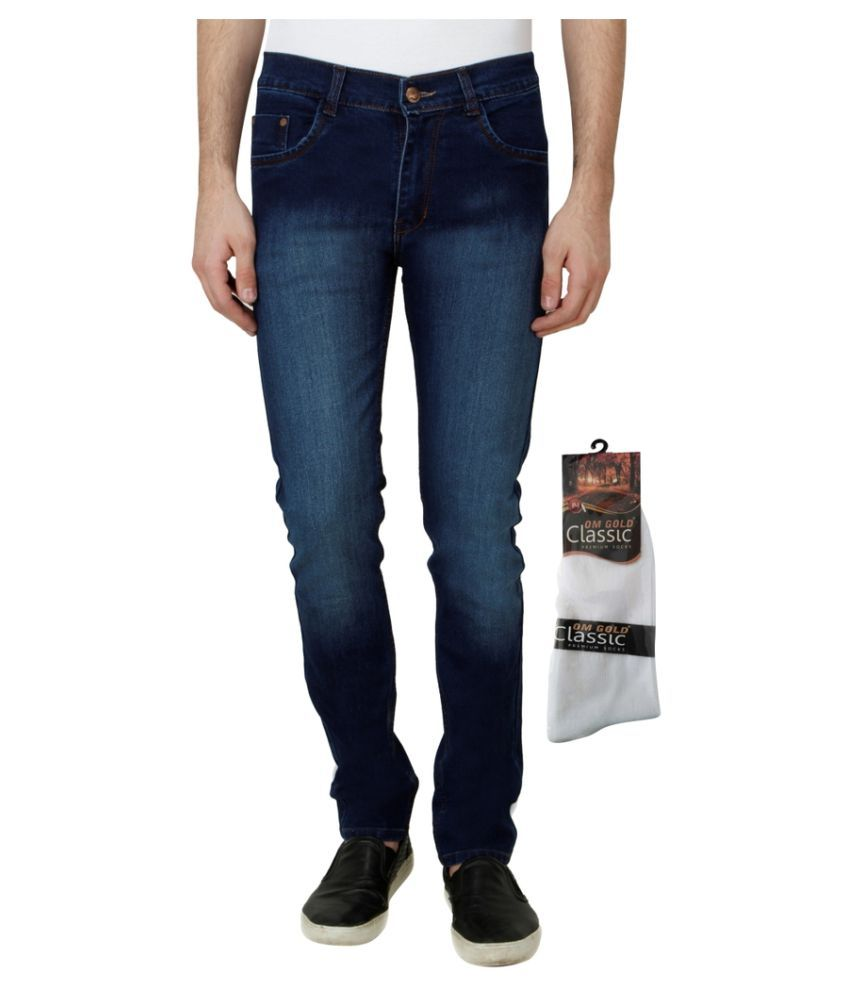 Haltung Blue Slim Faded Jeans