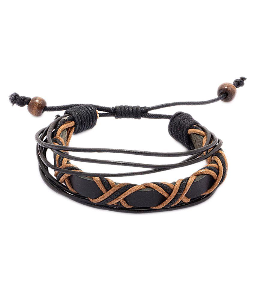 Voylla Multicolour Faux Leather Bracelet