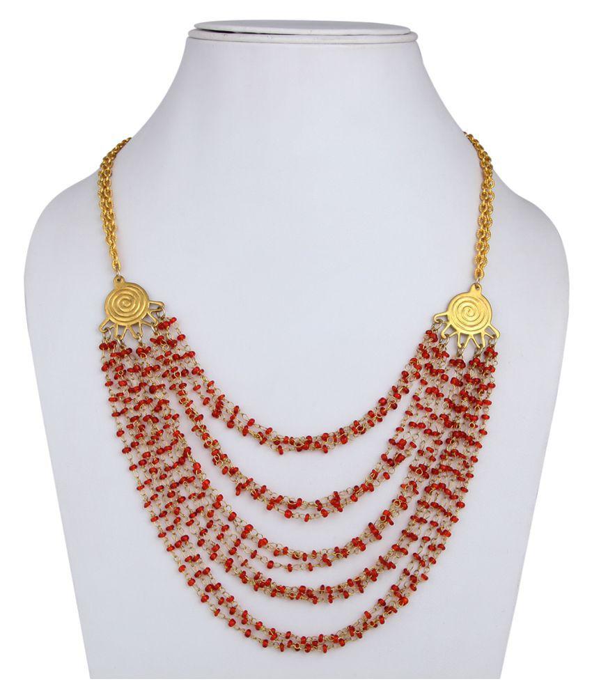 4322DCA Multicolour Brass Necklace