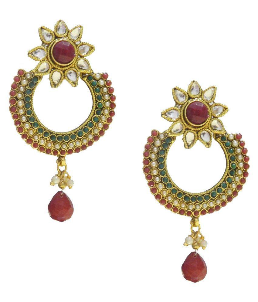 Crunchy Fashion Golden Designer Earrings