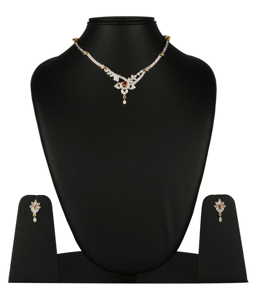 Fanvi White Necklace Set