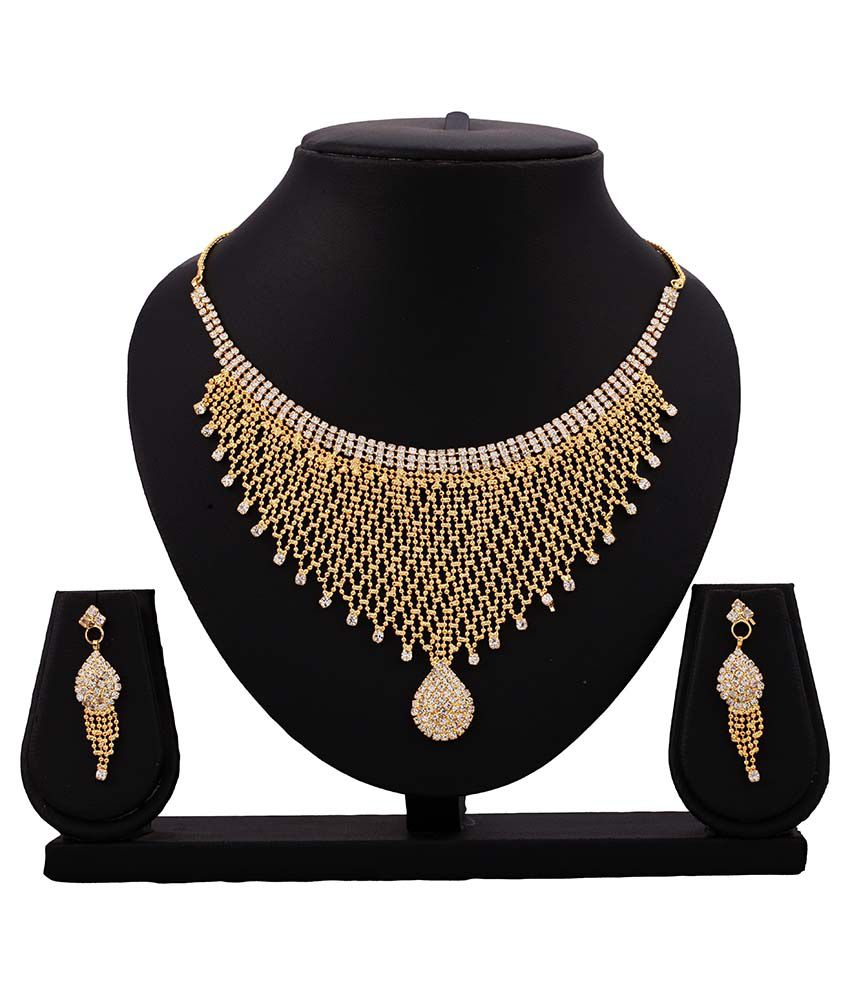 Gopalvilla Golden Necklace Set