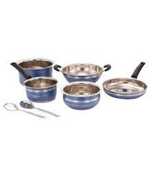 Mahavir Enamle Cookware Set 7 Cookware Sets - 629196058827
