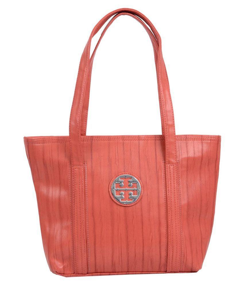 Bagaholics PeachPuff Faux Leather Tote Bag