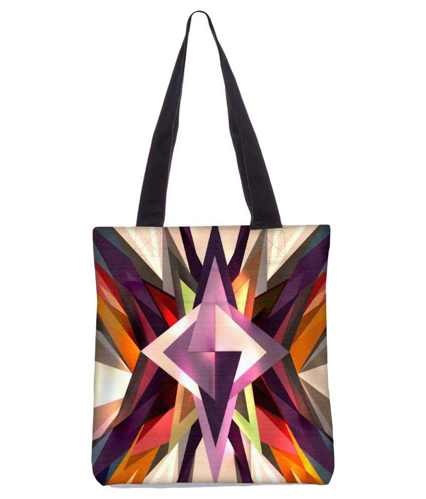Snoogg Multi Canvas Tote Bag