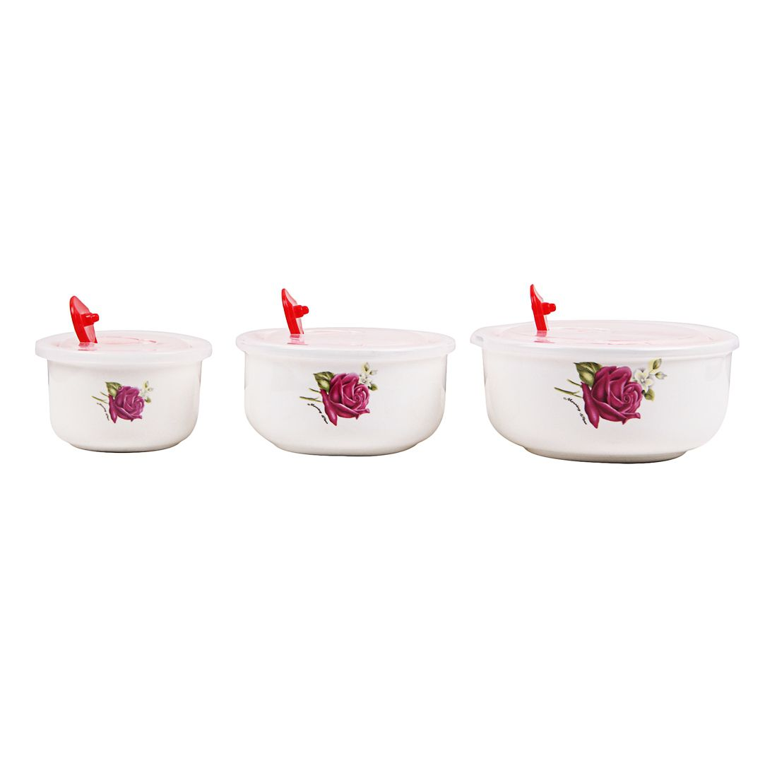 Eloisa White Ceramic Serving Bowls Set Of 3 Buy Online