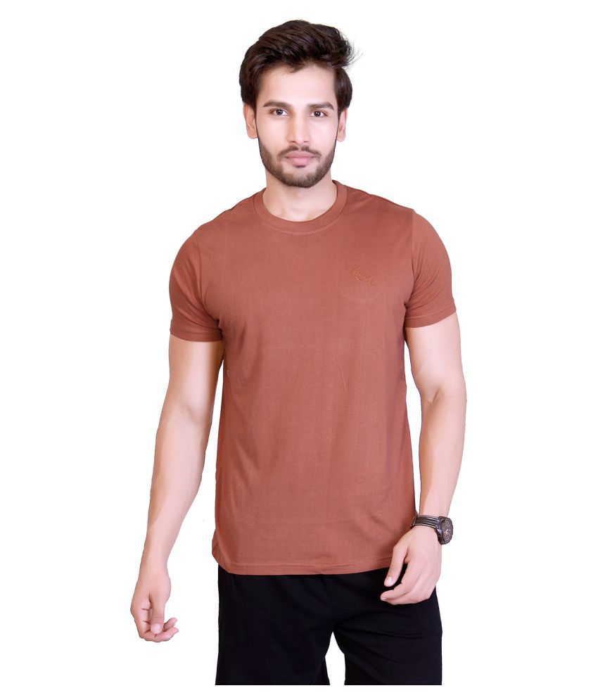 LUCfashion Brown Round T-Shirt