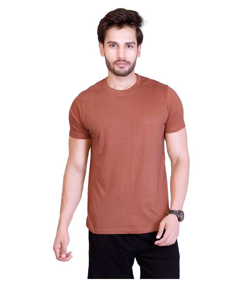LUCfashion Brown Round T-Shirt