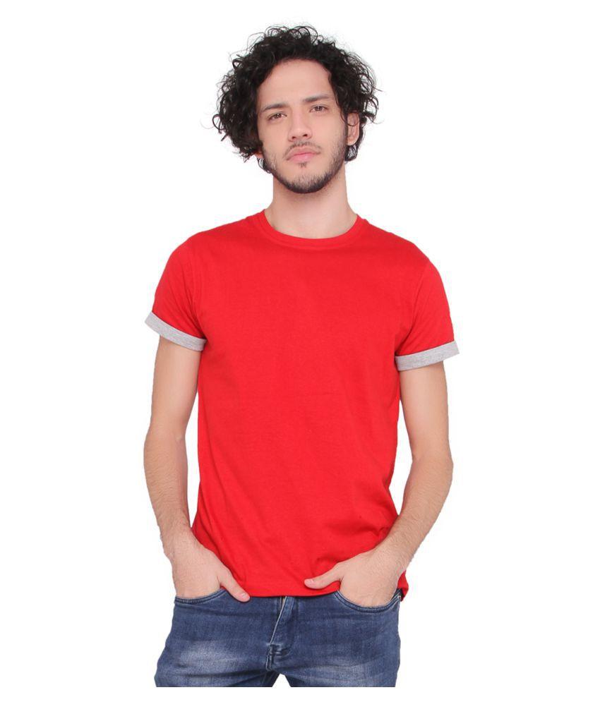 Lucfashion Red Round T-Shirt