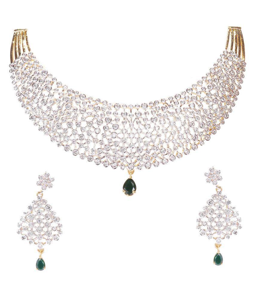 Manikya Brass Golden Necklaces Set