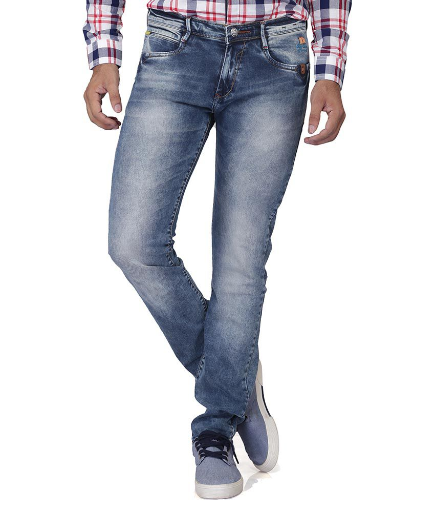 Nostrum Jeans Blue Relaxed Faded