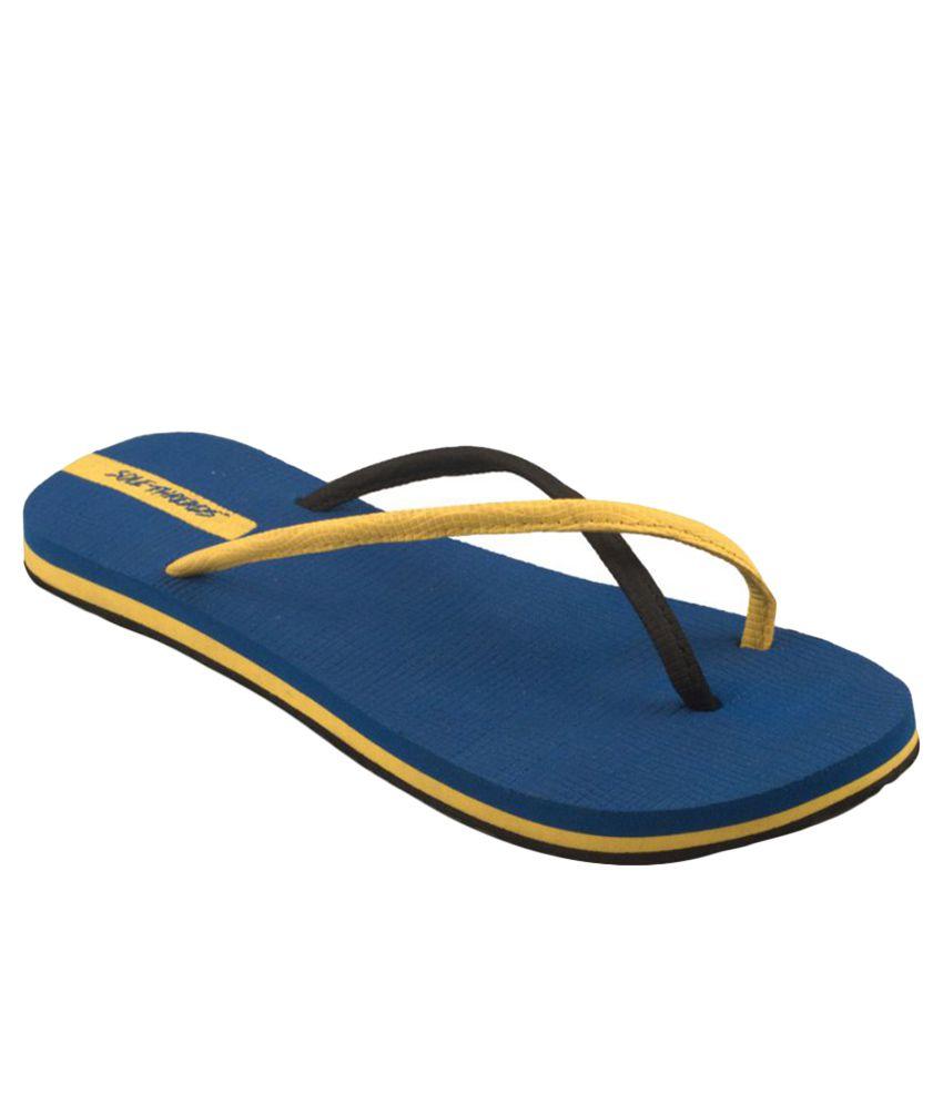 Sole Threads Yellow & Blue Flip Flops