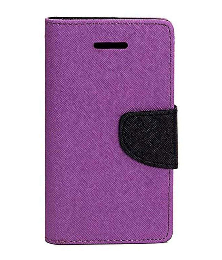 Micromax Canvas Doodle 3 A102 Flip Cover by DDF - Purple