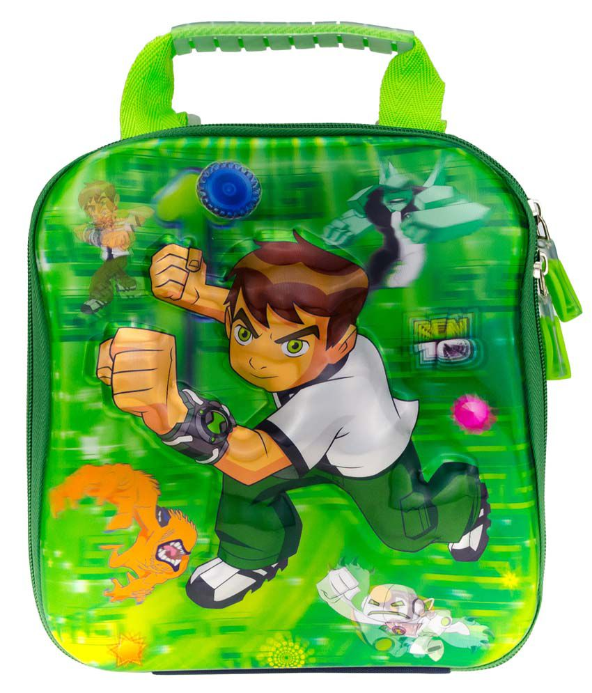 Genious 3D Design Green Polyester Trolley Backpack