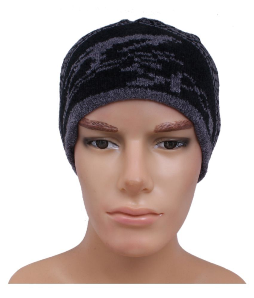 Jstarmart Multicolour Woolen Cap for Men