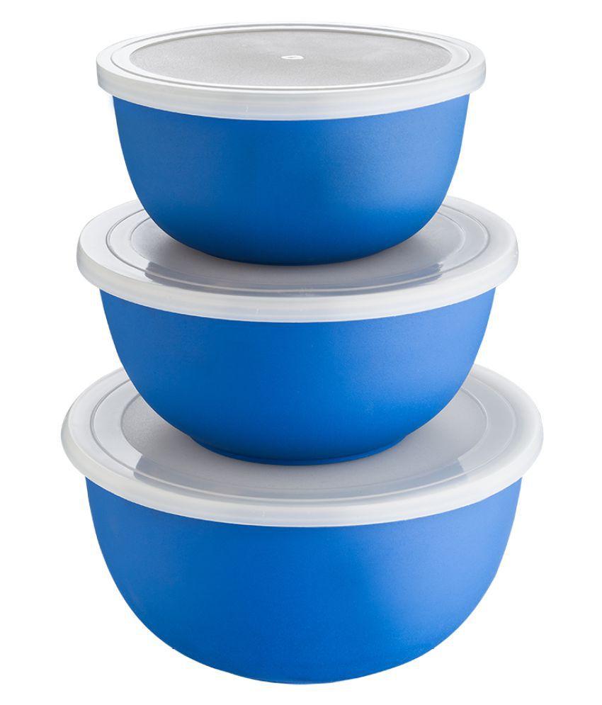Lavi Blue Microwave Safe Bowl Set Of 3