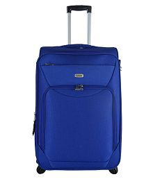 TIMUS UPBEAT SPINNER 69 CM BLUE 4 WHEEL STROLLEY SUITCASE FOR TRAVEL ( MEDIUM CHECK-IN LUGGAGE )