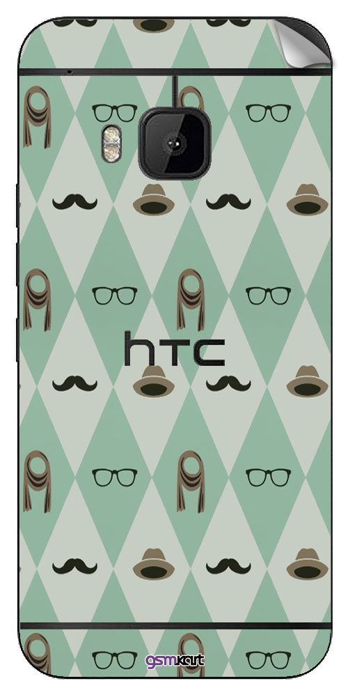 Htc One M9 Designer Stickers by GsmKart - Green