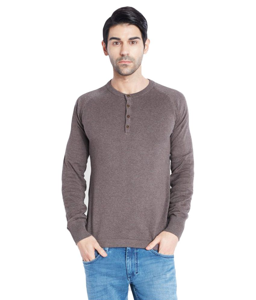 Park Avenue Brown Henley T-Shirt