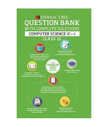 Oswaal CBSE Question Bank With Complete Solutions For Class 12 Computer Science C++(For 2017 Exams)