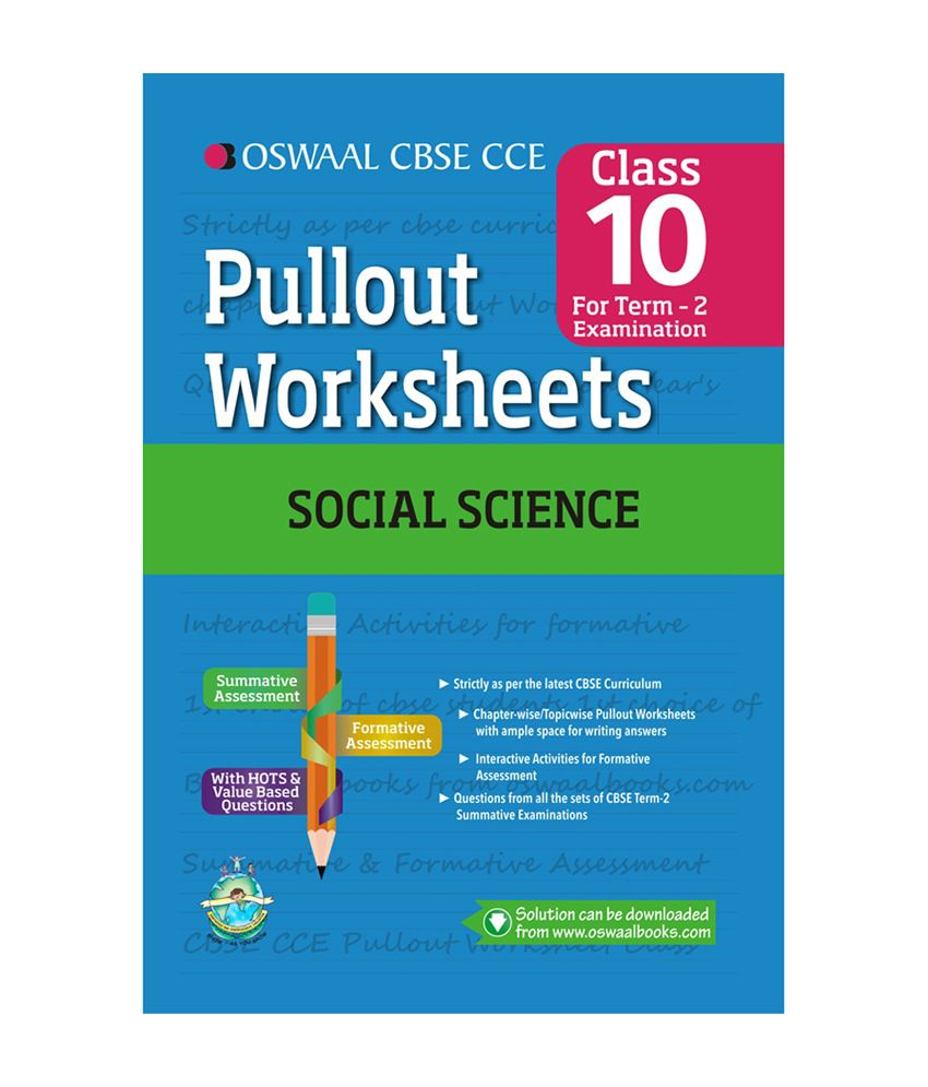 oswaal cbse cce pullout worksheet for class 10 term ii october to march social science buy. Black Bedroom Furniture Sets. Home Design Ideas
