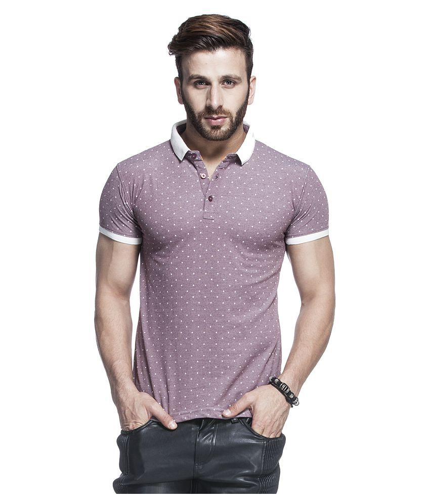 Tinted Pink Cotton Blend Polo T-Shirt Single Pack