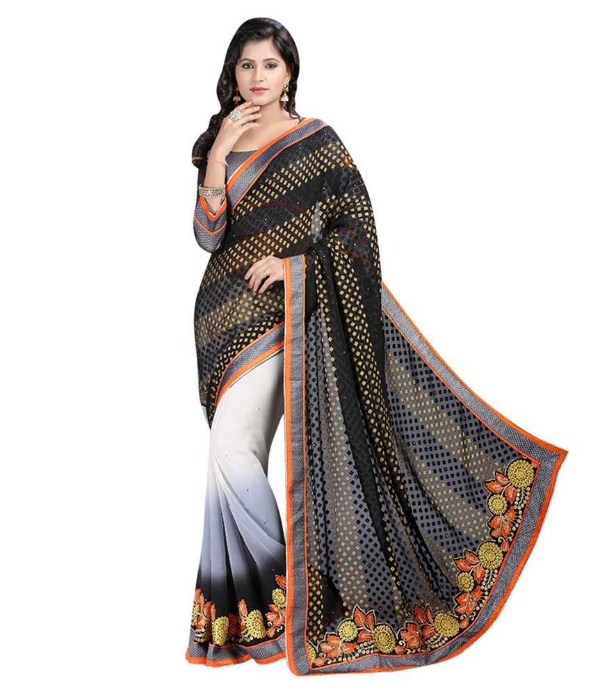 P.Puria Multicoloured Jacquard Saree