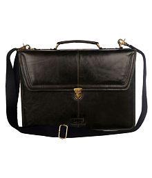 Justanned Black L Briefcase