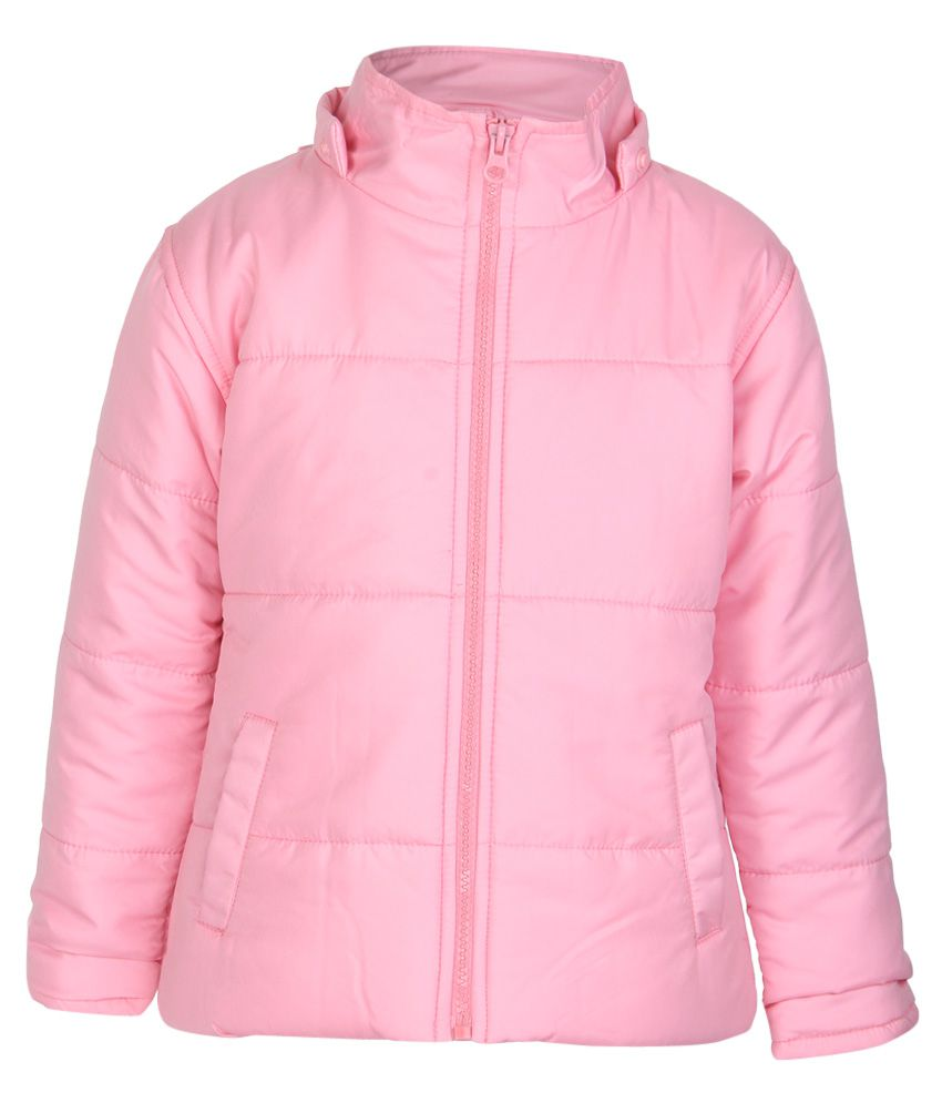 612 League Pink Solid Quilted Hooded Jacket