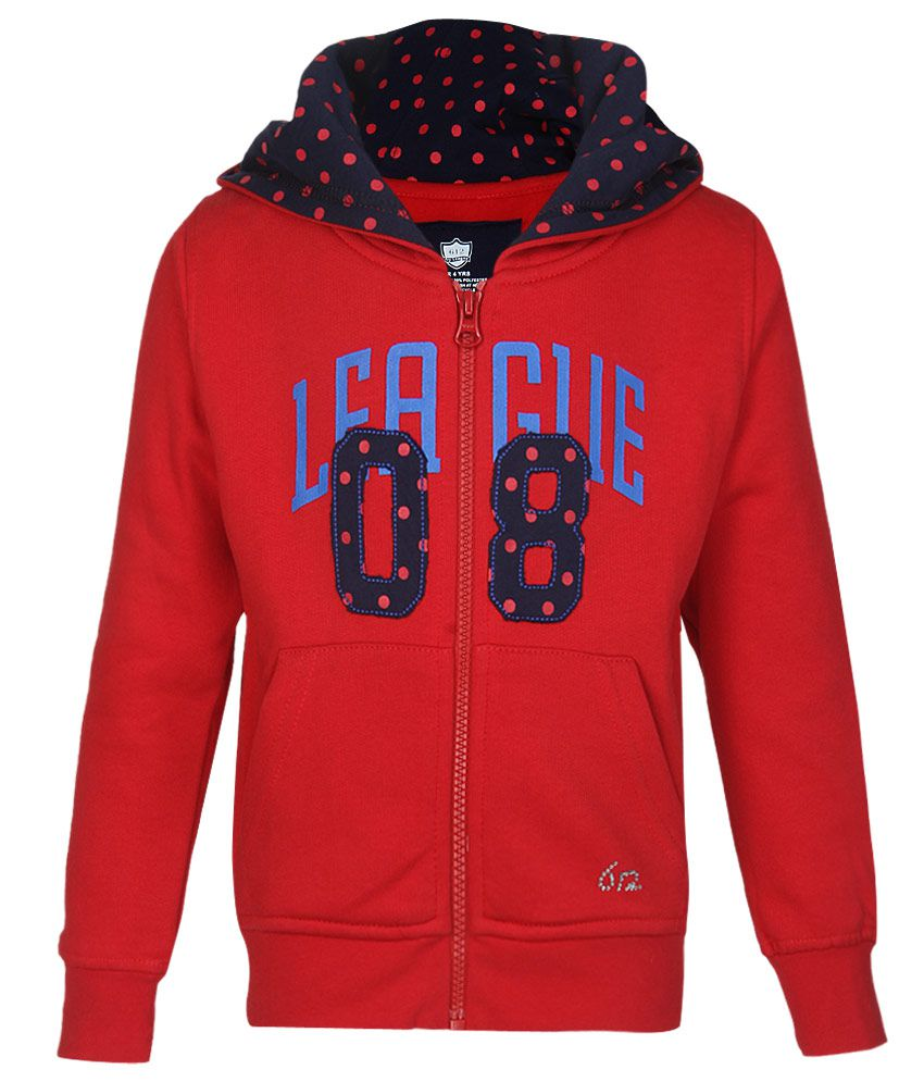 612 League Red Solid Zippered Sweatshirt
