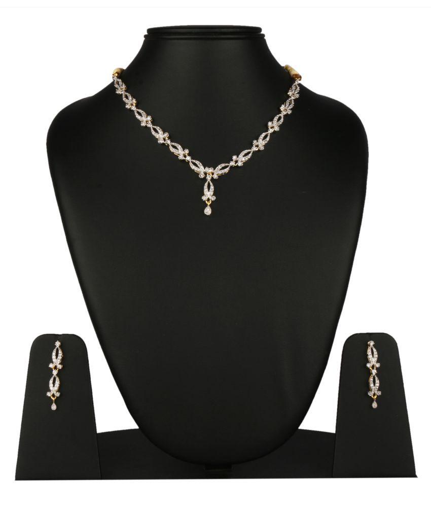 Fanvi Silver Alloy Necklaces Set