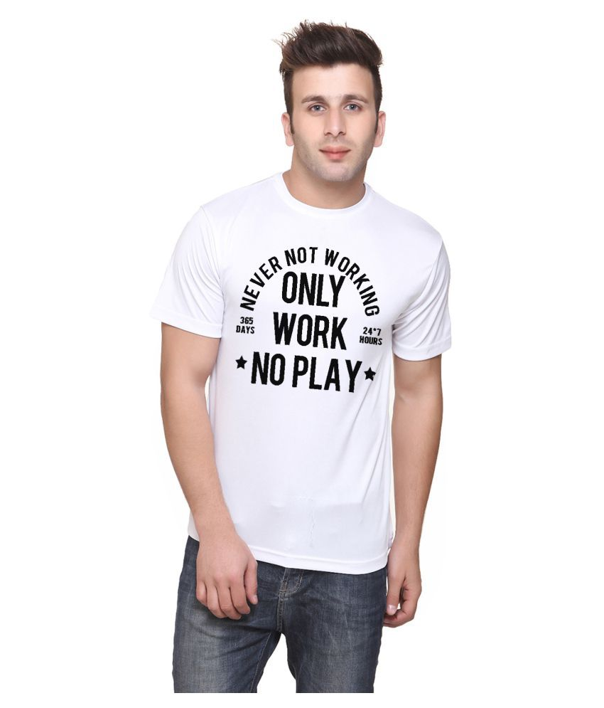 Bluehaaat White Round T-Shirt
