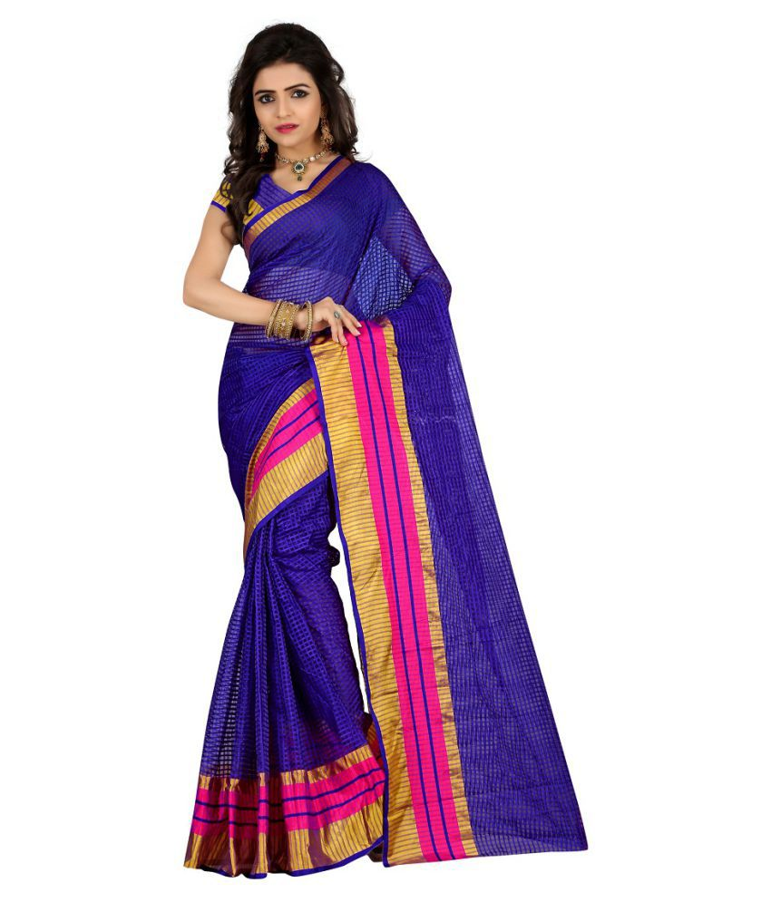 Shopping Point Purple Tissue Saree