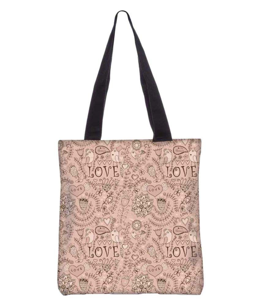 Snoogg PeachPuff Canvas Tote Bag