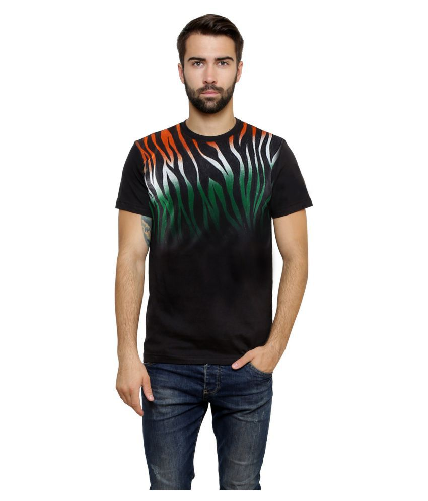 Rang Rage Black Round T-Shirt - Independence Day Special