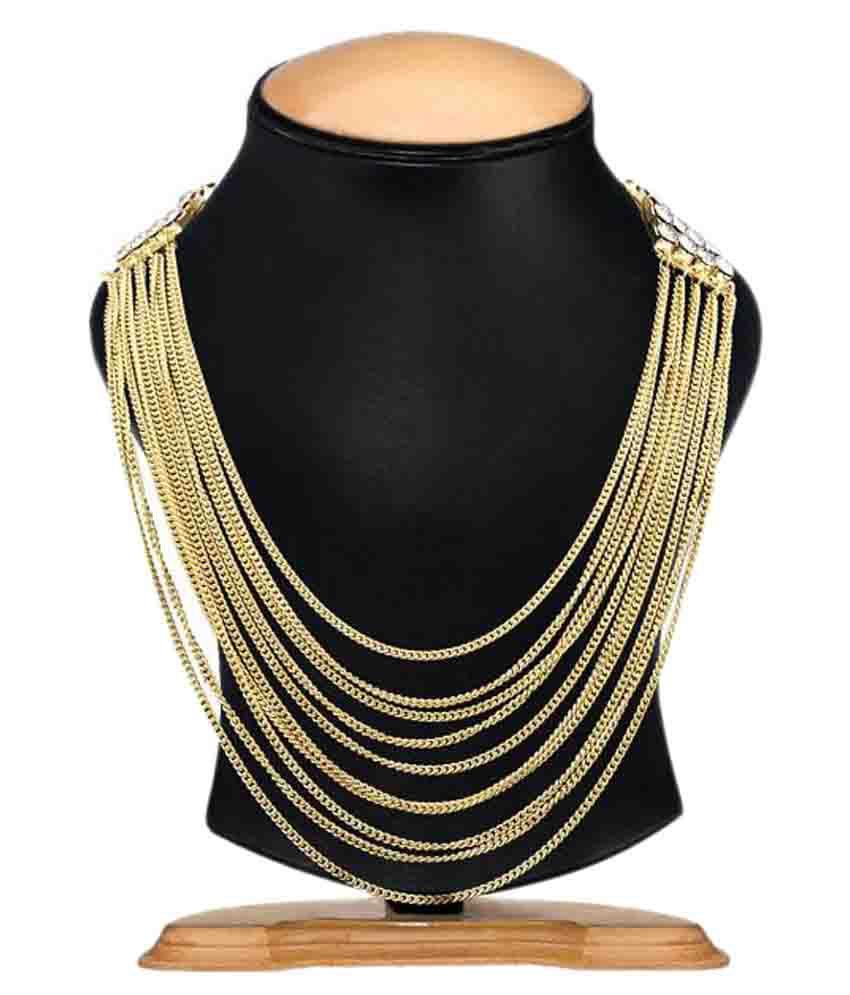 Fedexo Golden Designer Necklace