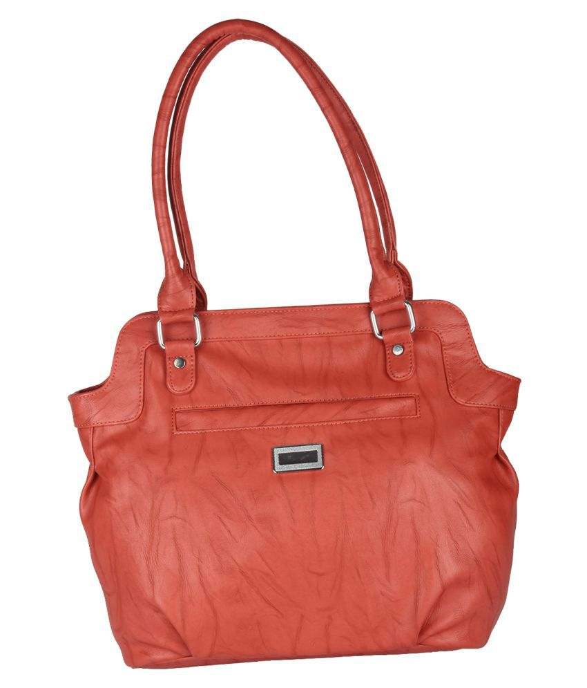 Hide Bulls PeachPuff Faux Leather Shoulder Bag