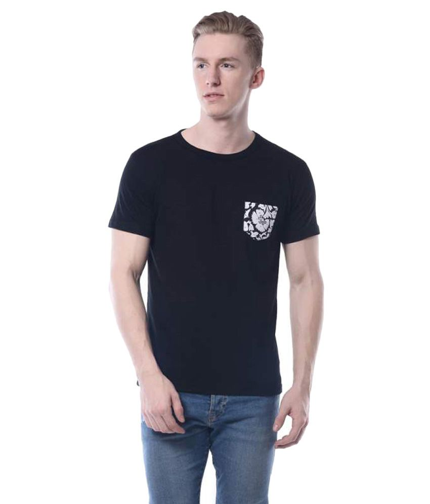Rags Black Round T-Shirt