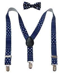 Navaksha Blue Bow Tie with Suspender