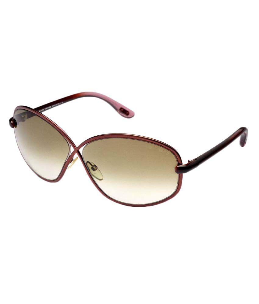 c127df3e62311 Tom Ford Brown Oversized Sunglasses ( BRIGITTE 160 48F